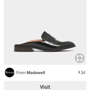 """Madewell black """"Elin"""" backless loafer 9.5"""